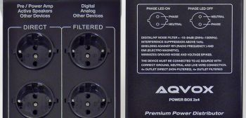 AQVOX Power Box  -  Line Filter incl. High-End Power Cord