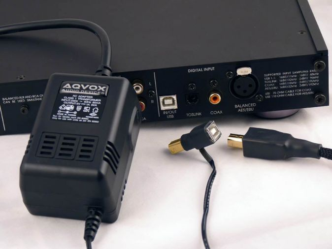AQVOX Low-Noise Power Supply - USB2 Type-B, Type-A, USB3 Type-A